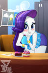 Rarity what about your diet? (Rarity day) by TheRETROart88