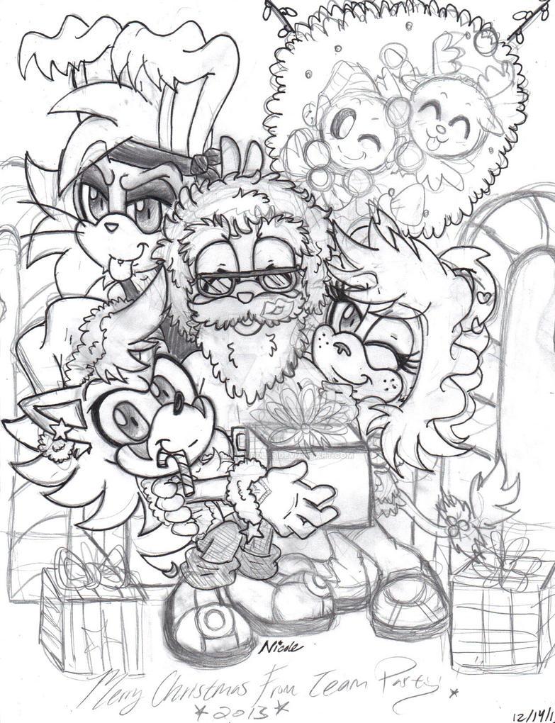 Team party with Santa XD by Bstar-Cuddles