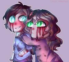 Commission: Sam and Sally by PinkMirukuu