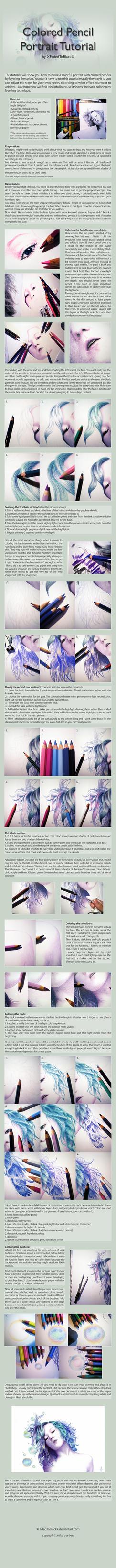ColoredPencilPortraitTutorial by XFadedToBlackX