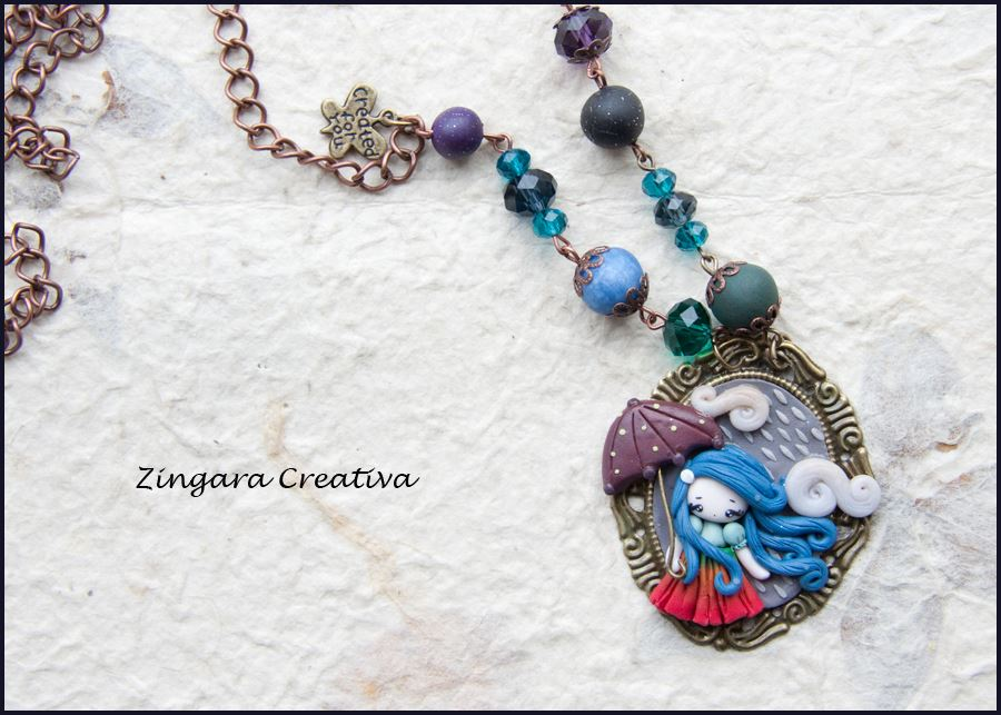 rain necklace =) by zingaracreativa