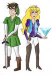 Cartoon Link and Zelda