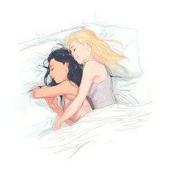 Glee - Brittana - Sleeping by Afterlaughs