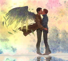 Commission - Destiel by Afterlaughs