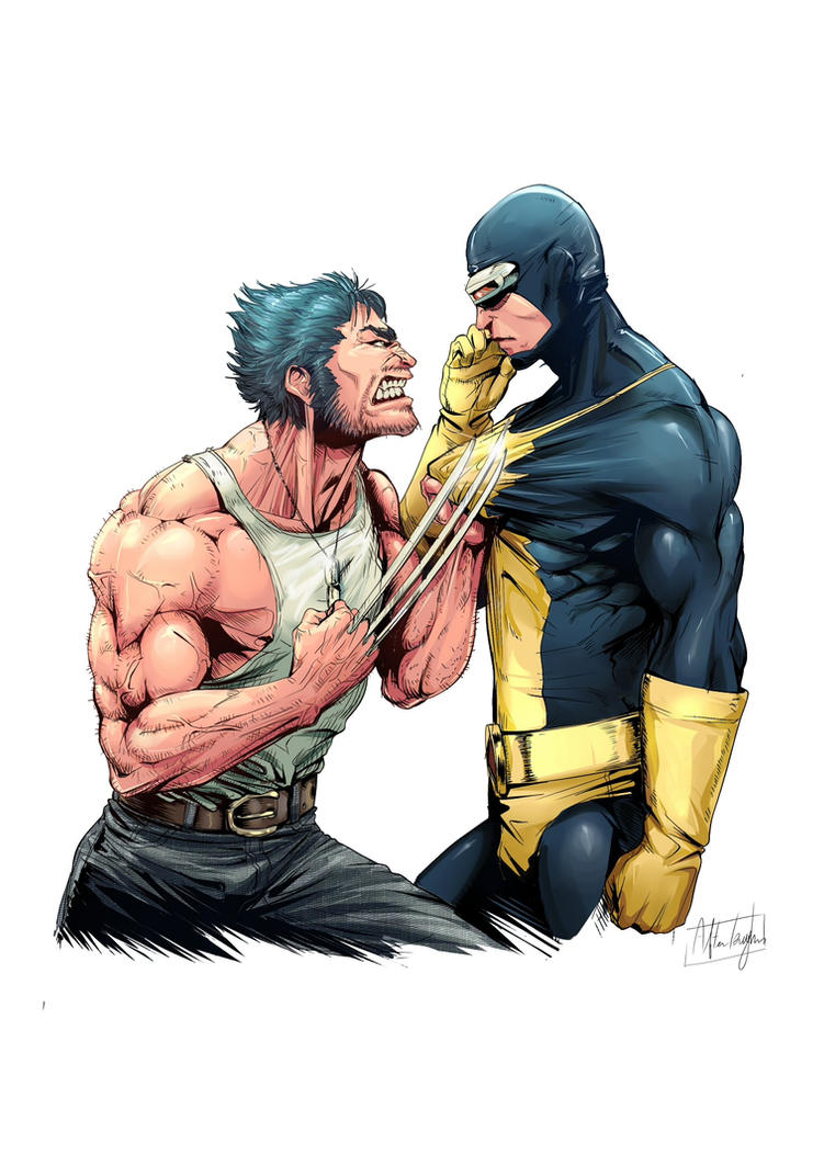 Wolverine and cyclops by afterlaughs on deviantart