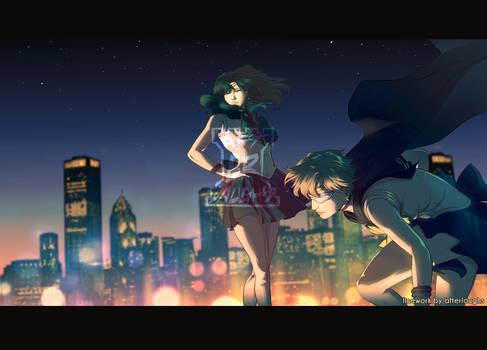 Sailor Moon Crystal redraw - Uranus and Neptune