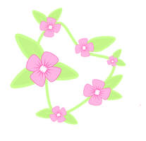 Cutie Mark  Flowers Necklace by DelLyra