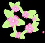 Cutie Mark  Flowers Necklace