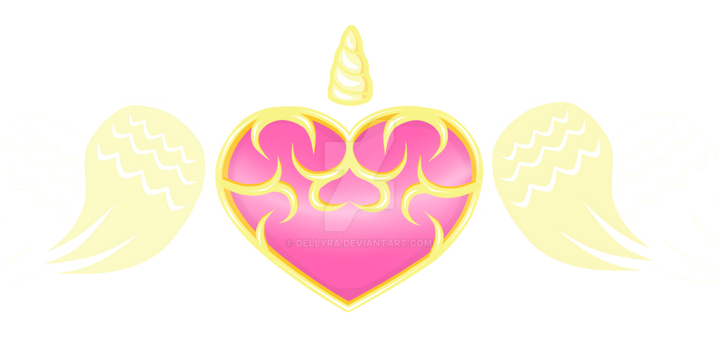 Commission Cutie Mark Gold Heart by DelLyra
