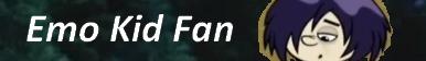 Emo Kid Fan Button
