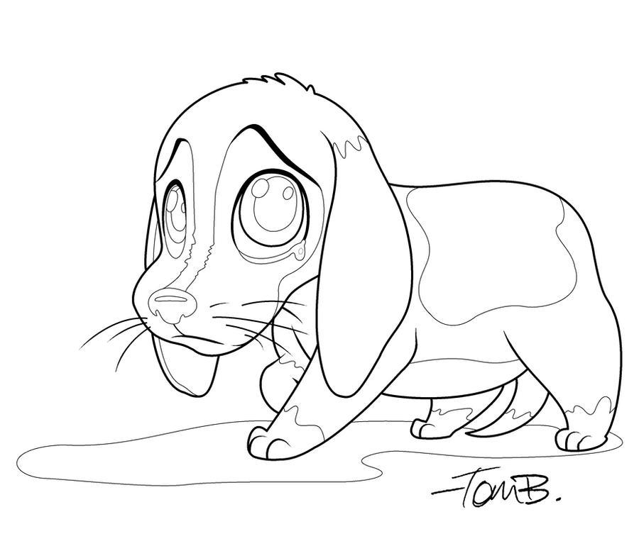 Sad Beagle Coloring Page By Kilowatts62 On Deviantart Sad Coloring Page