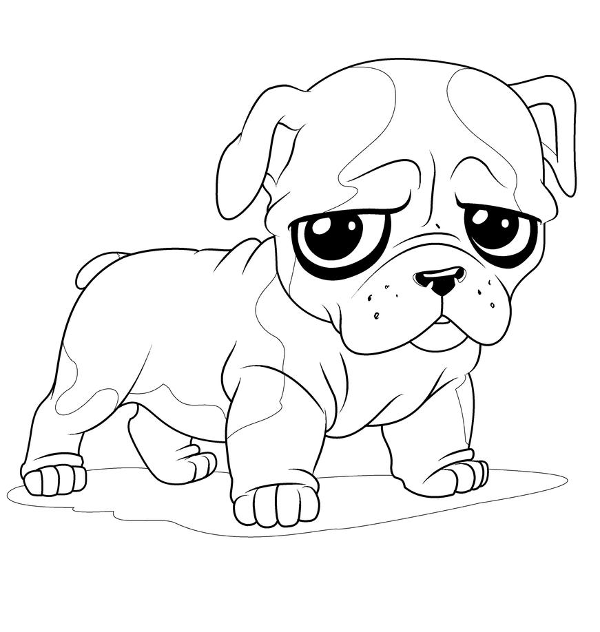 baby bulldogs coloring pages - photo#7