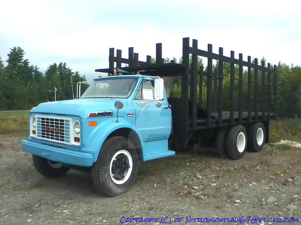1969 Gmc Truck 1969 Gmc C 60 Logging Truck By Nitrousoutlaw71 On Deviantart