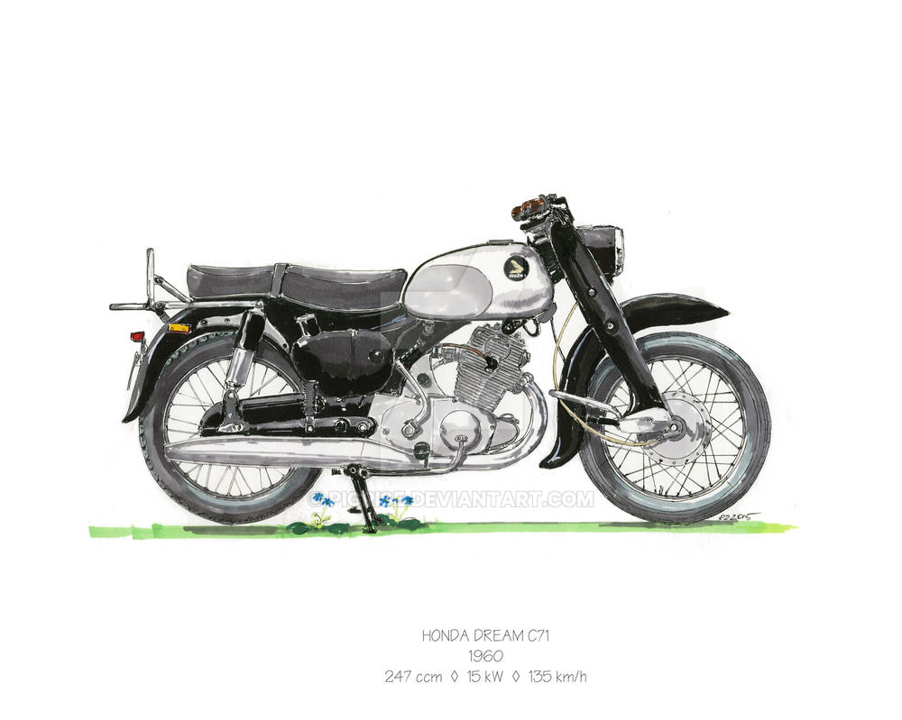 honda dream c71 1960 by pigrise on deviantart