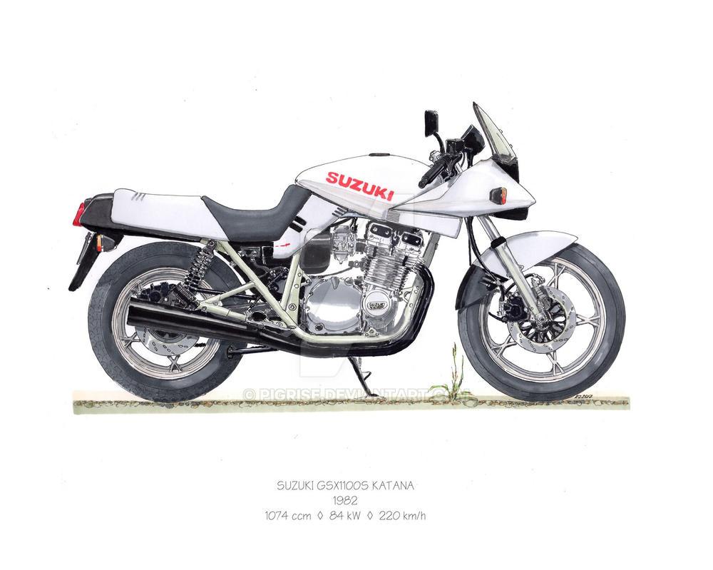 suzuki gsx 1100s katana 1982 by pigrise on deviantart