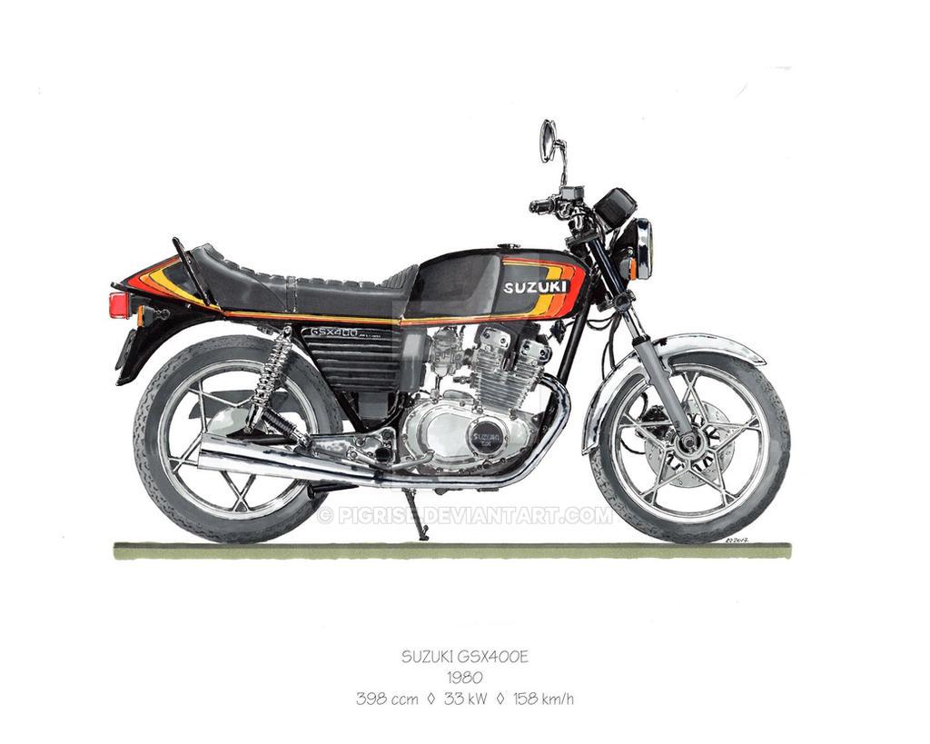 suzuki gsx 400e 1980 by pigrise on deviantart