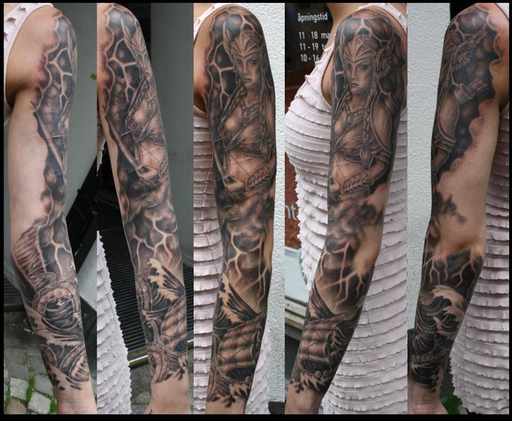 Viking sleeve by marielleroyseth