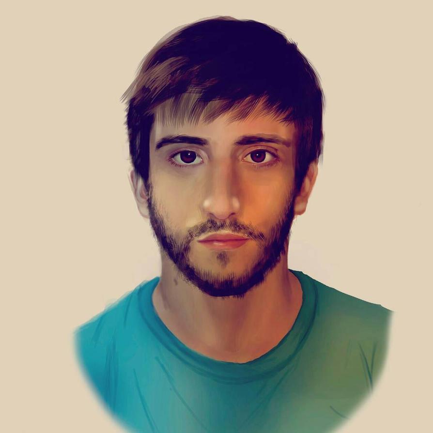 Auto portrait in Photoshop  by Vorrch