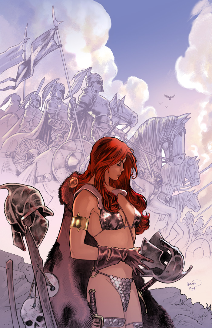 Red Sonja cover 40 by PaulRenaud