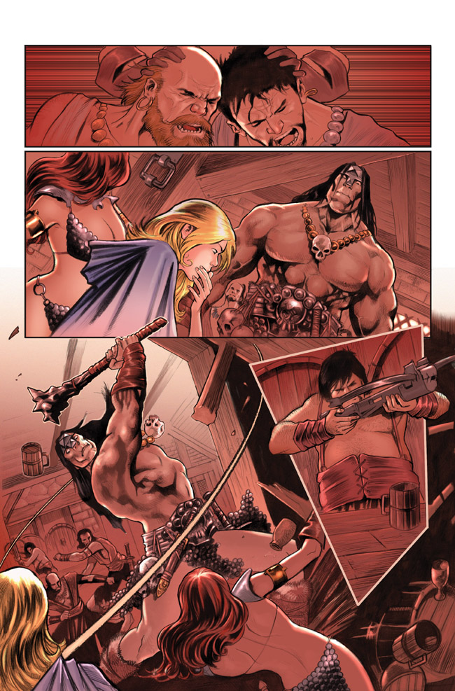 Red Sonja Action page1 by PaulRenaud