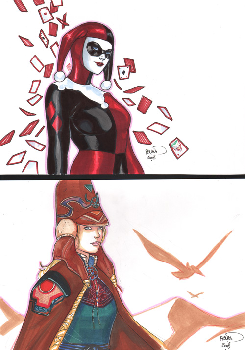 Harley and Starwatcher by PaulRenaud