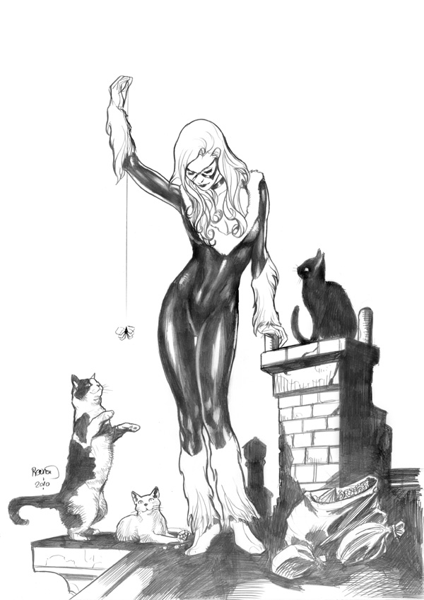 Black Cat and friends by PaulRenaud