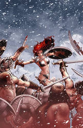Red Sonja 56 cover by PaulRenaud
