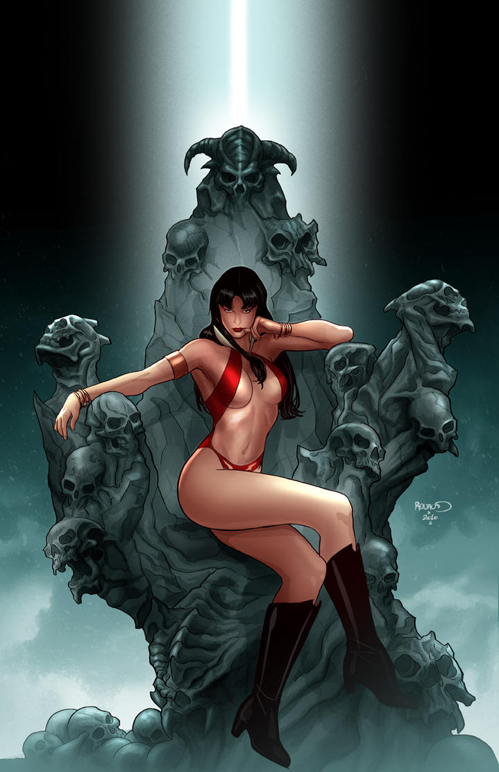 Vampirella 4 cover by PaulRenaud