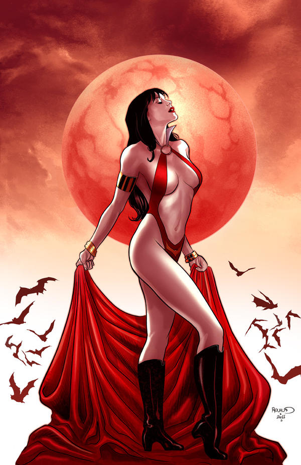 Vampirella 8 cover by PaulRenaud
