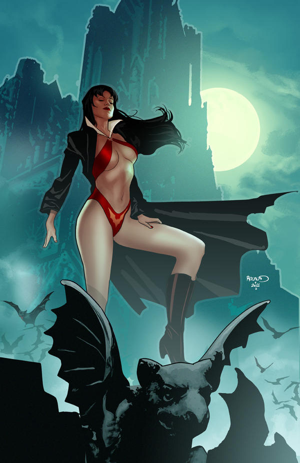 Vampirella 9 cover by PaulRenaud