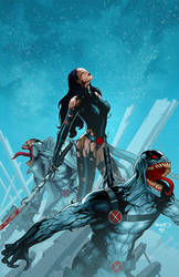 X-Force Venom Variant cover by PaulRenaud
