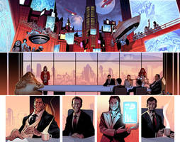 Uncanny Avengers Annual Double page by PaulRenaud