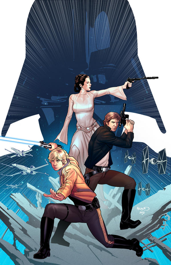 STAR WARS #1 variant cover by PaulRenaud