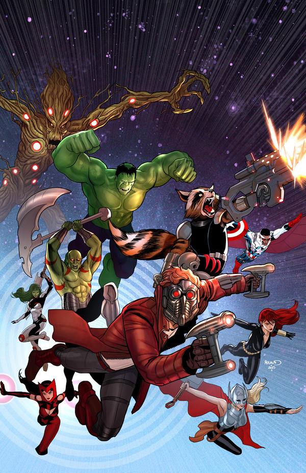 Guardians of the Galaxy Team up by PaulRenaud