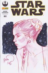 Leia Blank cover by PaulRenaud