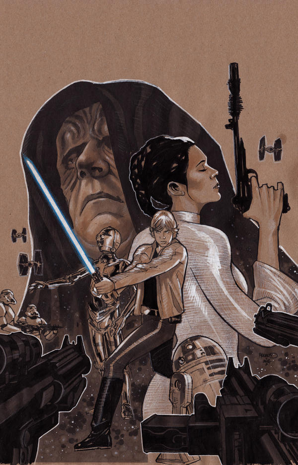 Star Wars2prelim by PaulRenaud