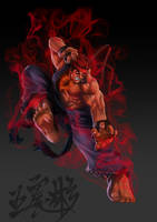 Evil Ryu- street fighter 4 by Jackywang