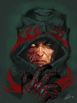 iPad sketch - Soul Sacrifice