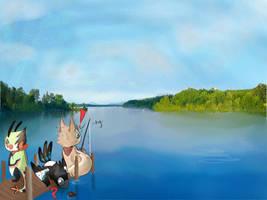 nix fishing event drawing FT Fabian Louixie and Tr