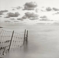 Fence in water by giedriusvarnas