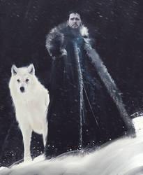 Jon Snow and his Pet