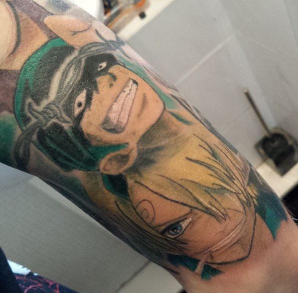 One piece tattoo coloured by dexscott on deviantart for One piece law tattoos
