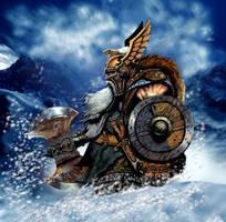Dwarf King by jimbradyart