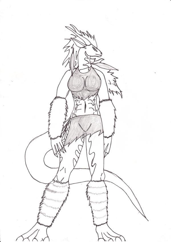 Zara the half dragon. by WardragonSturm