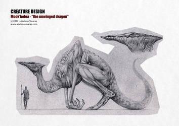Mook'holoa - The unwinged dragon by Onimetal