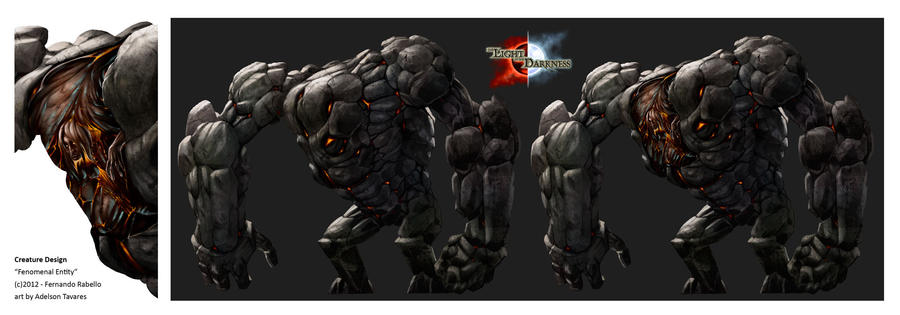 Creature Design - Golem by Onimetal
