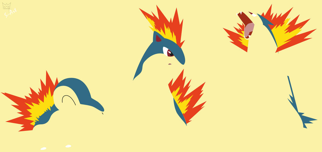 Cyndaquil Evolution By S Art