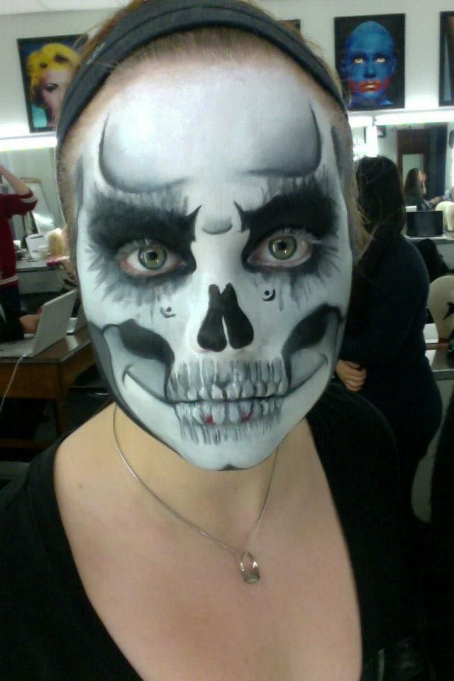 Childrens Skeleton Face Paint