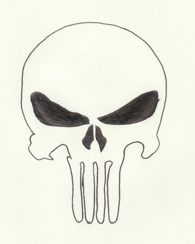 Simple skull tattoo designs - Punisher Skull By Perry666
