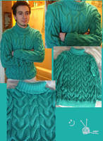 Cable Sweater by Leoness